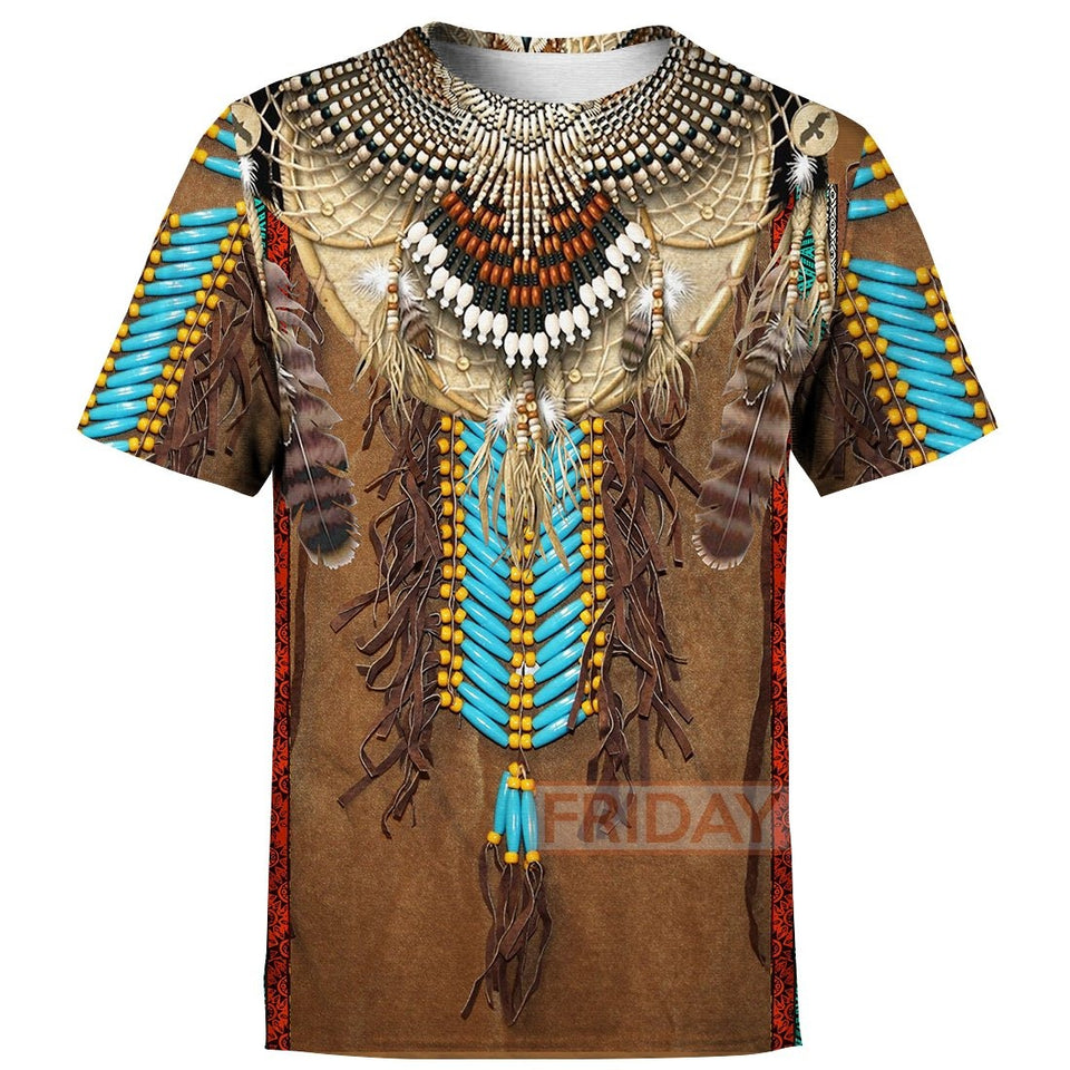 Native Fringed Motifs All Over Print Hoodie