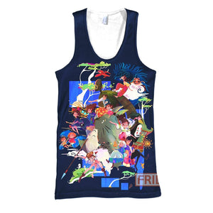 S.Ghibli All Characters Art 3D All Over Print Hoodie T-shirt