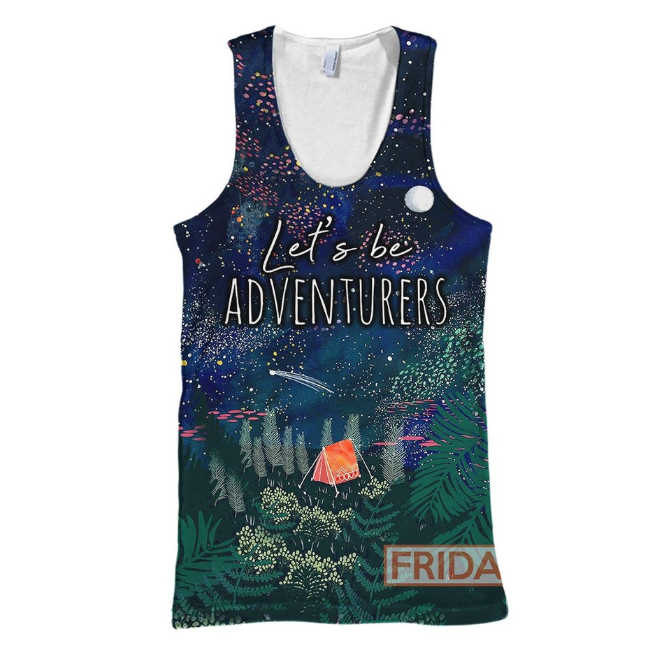 Camping Let's Be Adventurers All Over Print Hoodie