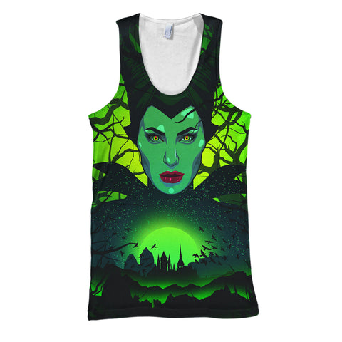 Image of 3D Print Maleficent Hoodie T-shirt