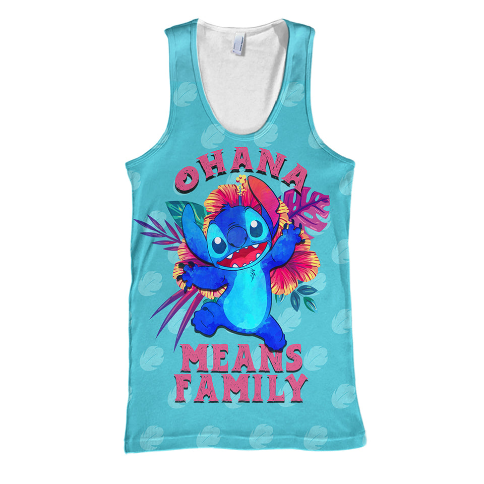 3D Print Stitch Ohana Means Family Hoodie