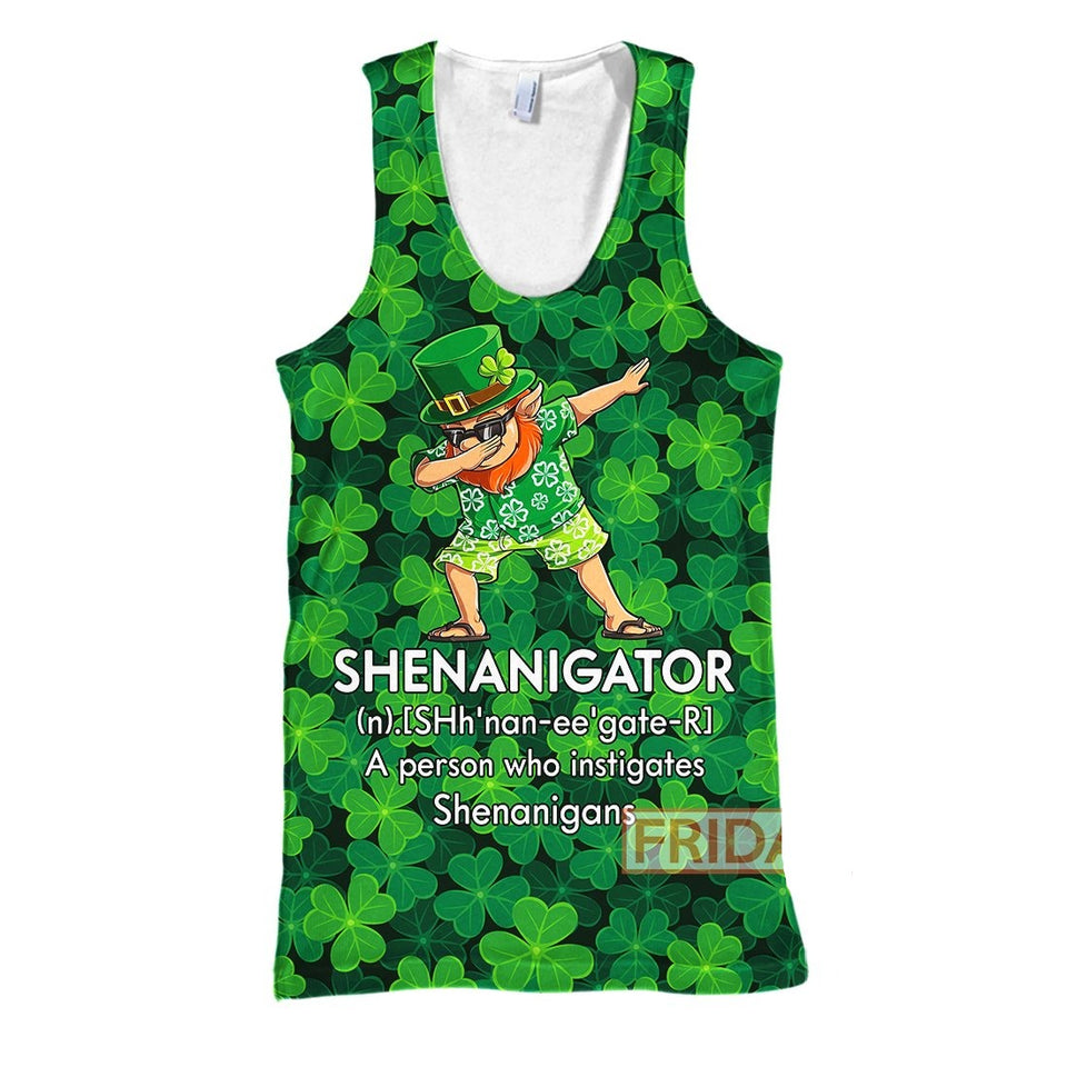 Shenanigator Definition St Patrick's Day Lucky Charms Shamrock 3D Print Hoodie T-shirt