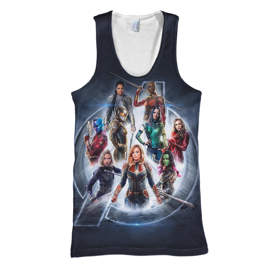 Marvel Of Girls 3D Print Shirt