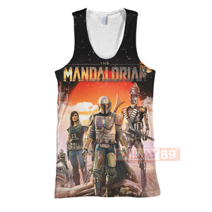 SW The Mandalorian Characters All Over Print Hoodie