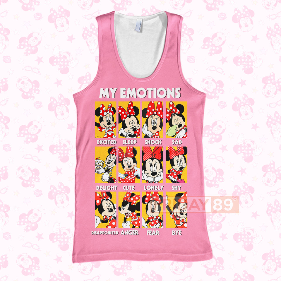 DN Adorable Minnie My Emotions 3D PRINT HOODIE T-SHIRT
