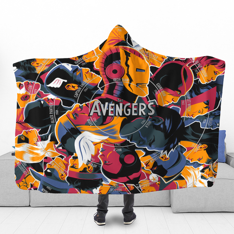 Image of TA Characters Hooded Blanket