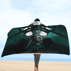 Goddess of Death Hooded Blanket