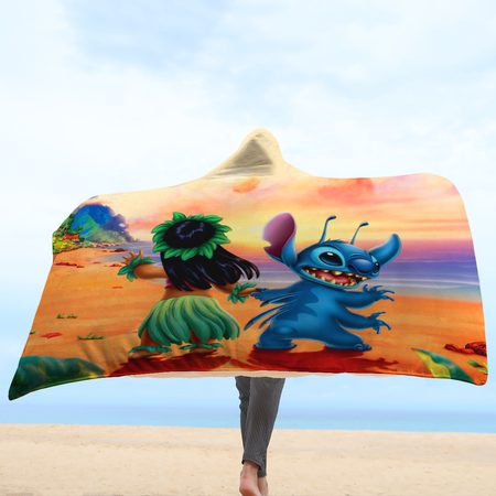L&S Sunset Beach Hooded Blanket