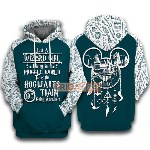 HP Just A Wizard Girl 3D Print Hoodie