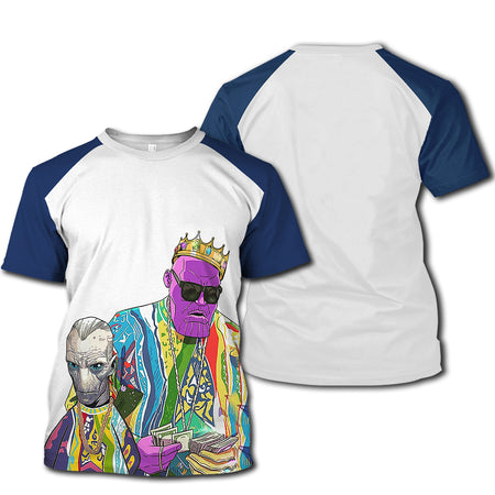 TN Tupac Shirt - Biggie Small - TN 3d Print Tee - TN Tee