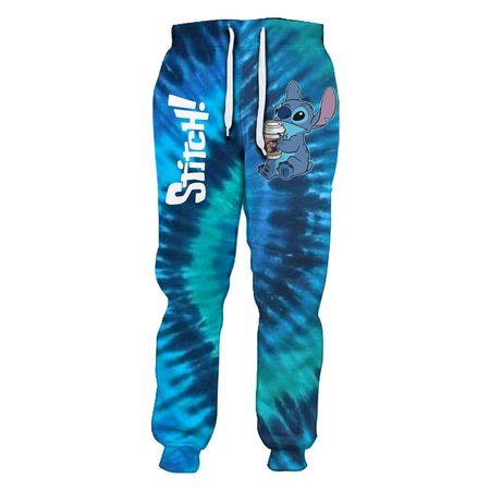 Stitch Tie Dye But First Coffee Pants - Jogger