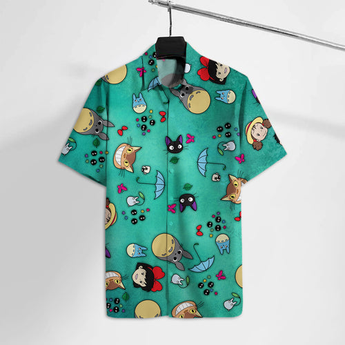 S.Ghibli Emoji Faces Hawaii Tshirt
