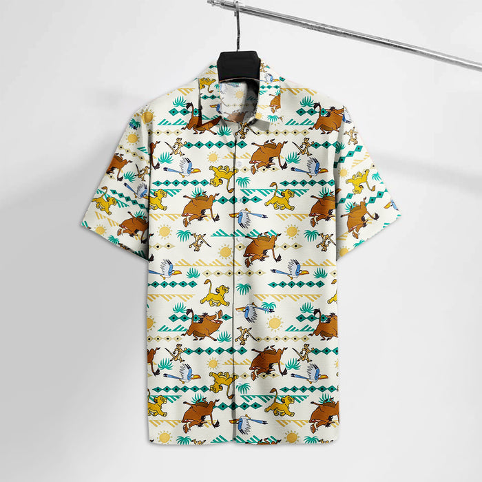 LK Baby Lion And Friends Hawaii Tshirt  Aloha Shirt