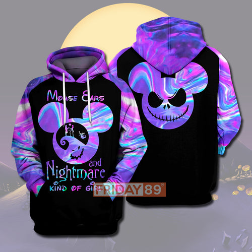 Mouse Ears And Nightmare Kind Of Girl 3D PRINT HOODIE T-SHIRT