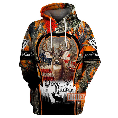 Deer Hunter Beauty Hunting Art 3D Print Hoodie T-shirt Tank Sweater