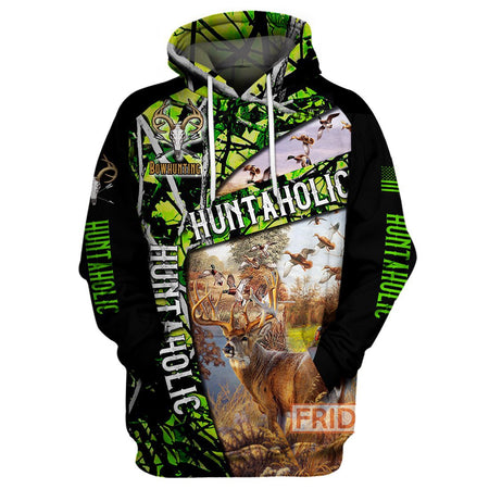 Hunting Aholic Deer hunting All Over Hoodie