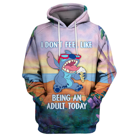 Stitch - Don't Feel Like Being An Adult Hoodie