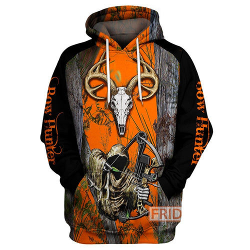 Bow Hunter Bowhunting Wildlife Animals Hunting 3D All Over Print Hoodie T-shirt