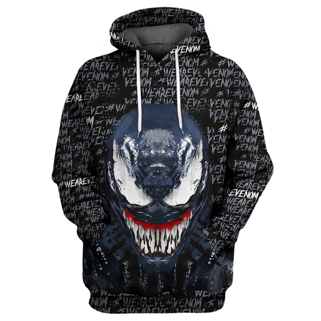 We Are Venom Black & Blue 3D Print Shirt
