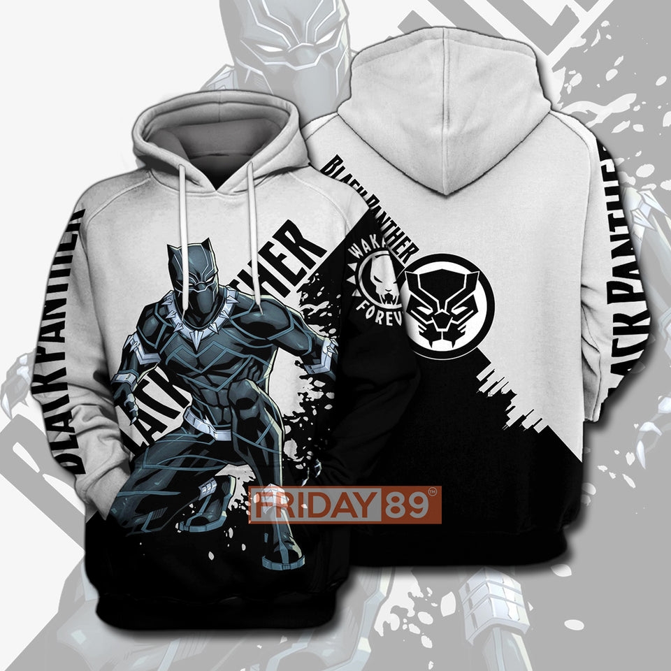 BP Strong Panther Wakanda Forever 3D PRINT HOODIE T-SHIRT