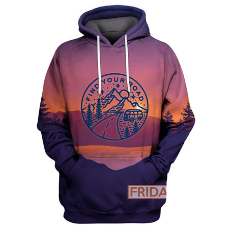Find Your Road - Travel Adventure Camping  All Over Print Hoodie