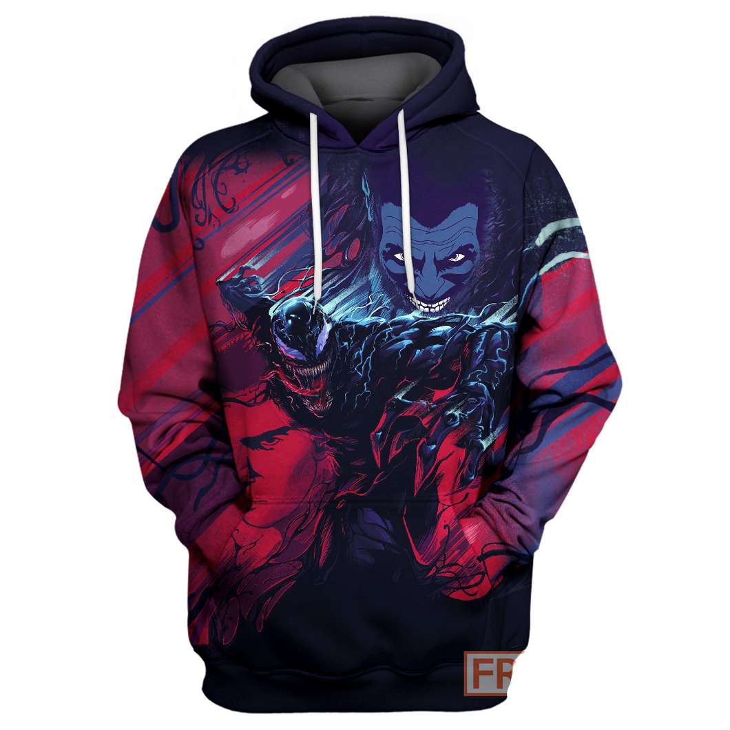Venom Blue & Red - All Over Printing Shirt & Hoodie