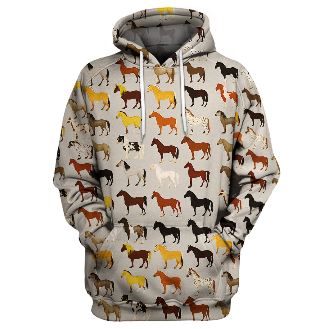 Horse Breed - Horse Lover 3D Print Shirt Hoodie