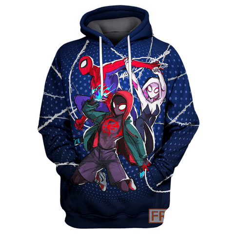 Image of Spider Man New Universe 3D Print Shirt