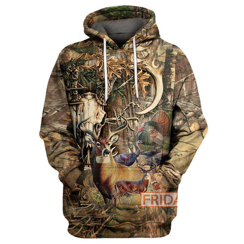 Hunting Wildlife Deer Hunter All Over Print Hoodie