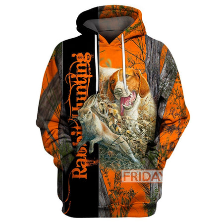 Rabbit Hunting - Hunting Dog 3D Print Hoodie