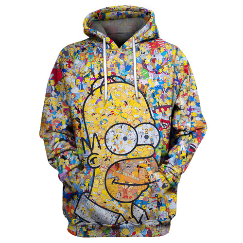 The Simpsons Art 3D Print Shirt
