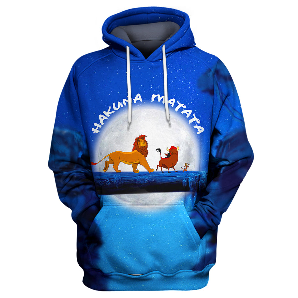 It means no worries - hakuna matata Shirt . Lion King Hoodie