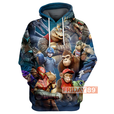 A Nintendo Cinematic Universe 3D Print Hoodie T-shirt Tank Sweater