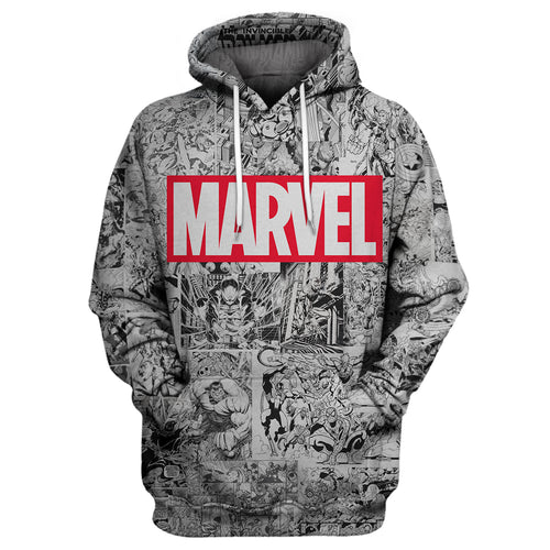 Marvel Comic 3D Print Shirt