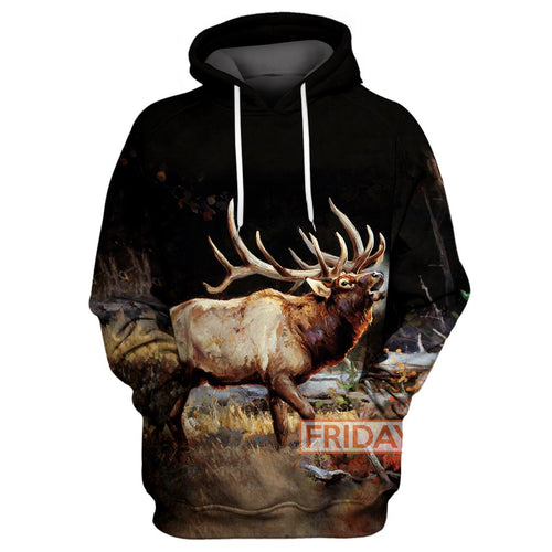 Beauty Deer Moose Wildlife Art  Hunting 3D Print Hoodie T-shirt Tank Sweater