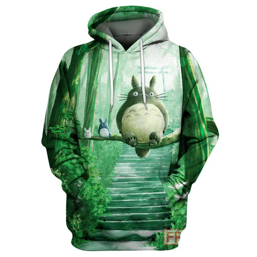 S.Ghibli Totoro And Friends Camphor Tree  All Over Print Hoodie T-shirt