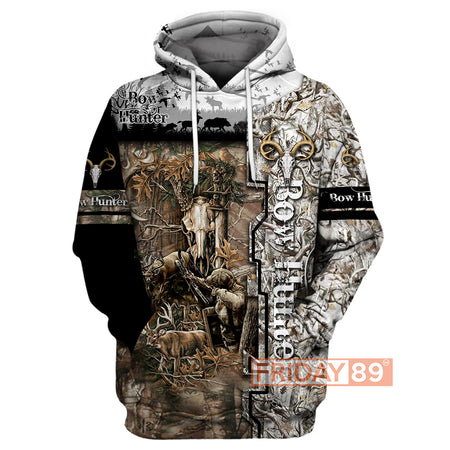 Bow Hunter Wildlife Animals Hunting All Over Print Hoodie