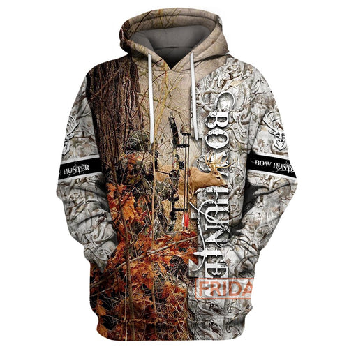 Bow Hunter - Deer Hunting 3D Print Hoodie
