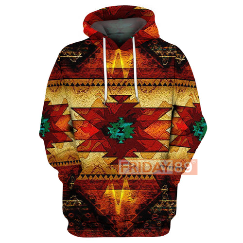 Native Culture Art Pattern 3D Print Hoodie