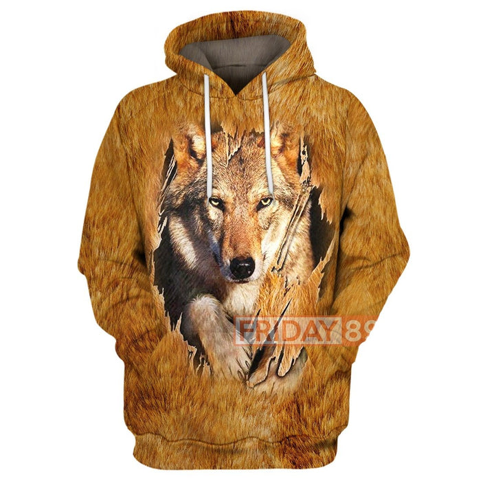 All Over Print Native Wolf Head Wildlife Cosplay Hoodie