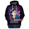 DN A Girl Who's Got A Brain Who Always Speaks Her Mind 3D Print Hoodie T-shirt