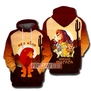 Her King - Lion Hoodie