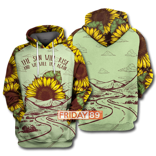 The Sun Will Rise - Sunflower All Over Print Hoodie