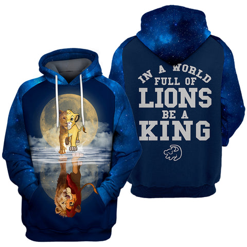 Image of 3D Print Be A King Hoodie T-shirt