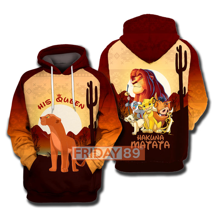 His Queen - Lion King Hoodie