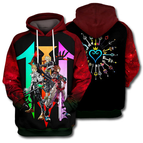 Image of 3D Print Kingdom Hearts Hoodie T-shirt
