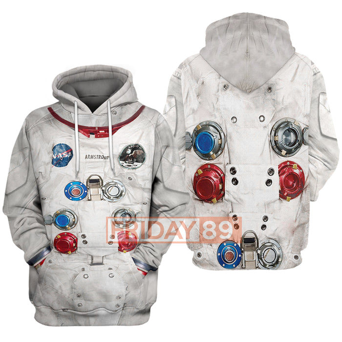 3D Print Astronaut Suit Hooded Sweatshirt Hoodies