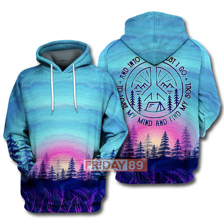 The Forest I Go Sublimation Camping Forest Hoodie