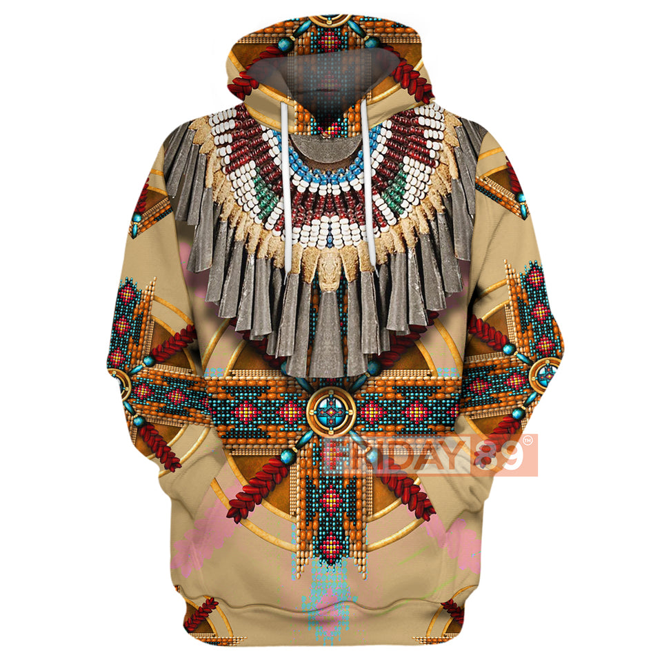All Over Print Native American Culture Pattern Hoodie