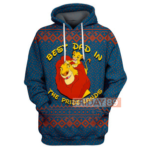 DN LK Best Dad In The Pride Lands - Simba & Mufasa Hoodie
